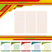 Plantilla resumen antecedentes — Vector de stock
