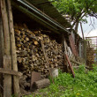 Wooden texture in country — Stock Photo