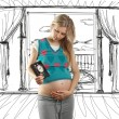 Stock Photo: Tender pregnant female