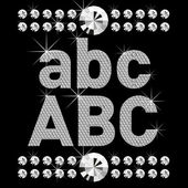 Novo conjunto de letras bold (realce) de diamante — Vetorial Stock