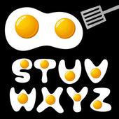 Eieren alfabet — Stockvector