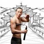 Shaolin monk — Stock Photo #6070503