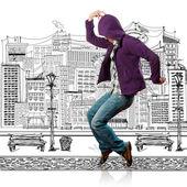Dance like michael — Stock Photo