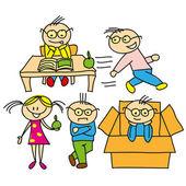 Vecteur enfants nouveau style — Vecteur