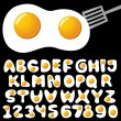 Eggs alphabet — Stock Vector #6540899