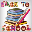 Back to school — Vector de stock #6215291