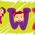 VWX alfabet — Stock Vector #6215485