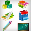 Vector de stock : School accessories