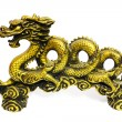 Royalty-Free Stock Photo: Golden dragon on white background