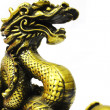 Golden dragon on white background — Stock Photo #6244678