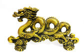 Golden dragon on white background — Stock Photo