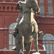 Stock Photo: Monument to marshal Zhukov, Russia