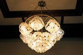 Big beautiful chandelier — Stock Photo