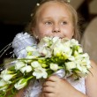 Little bridesmaid — Stock Photo