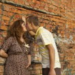 Pregnant girl with a guy — Stock Photo #6173081