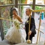Happy newlyweds — Stock Photo #6296982