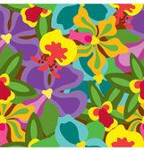 Summer Orchid Pattern — Stock Vector