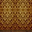 Vintage room with golden damask wallpaper — 图库照片