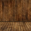 Brown plant wooden corner room and floor — Stock Photo