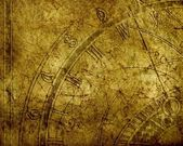 Abstract background with antique clock and copyspace — Stock Photo
