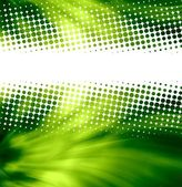 Green halftone texture — Stock Photo