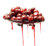 Cherries with syrup — Stock Photo