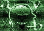 Digital brain — Stock Photo