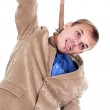 Businessman hung oneself — Stock Photo #6674009