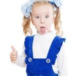 Funny little girl — Stock Photo