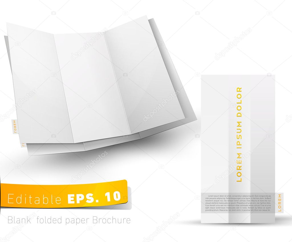 Blank folded brochure for your design presentation  Stock Vector #6008281