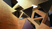 黑色 3d 金字塔 — 图库照片