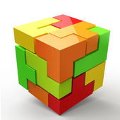 3D Cubes colored abstraction — Stock Photo