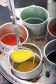 Sıvı balmumu renkleri — Stok fotoğraf