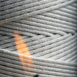 Extreme close up of wick cord — Stockfoto