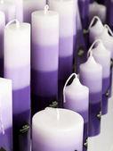Purple candles — Stock Photo