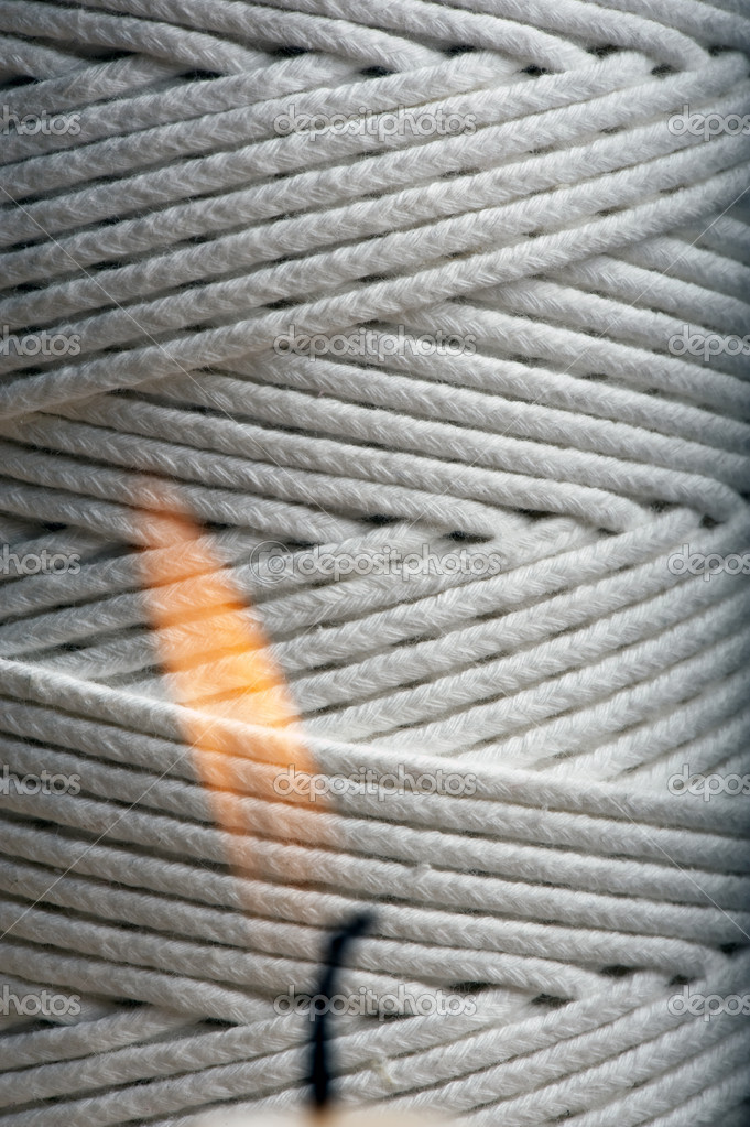 Extreme close up of wick cord — Stock Photo #5637347