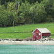 Norwegian boathouse — Stock Photo