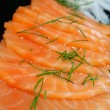 Salmon seshimi close-up — Stock Photo