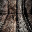 Light of dark edges wood wall — Stock Photo