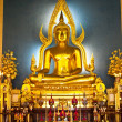 The Shinarath buddha in Bangkok Thailand — Stock Photo