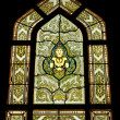 Stained glass window of angel , Thailand — Stock Photo #5431851