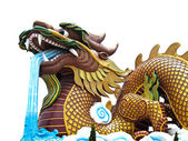 Dragon Statue with Isolated on white — Stock Photo