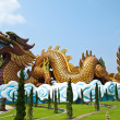 Giant Crouching Dragon at Suphan Buri , Thailand - Stock Photo