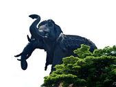 Status de erawan elefante com três cabeças — Foto Stock