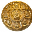 Stock Photo: Circle of golden buddha