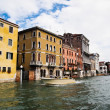 Taxi boat service at Venice 's Grand Canal in Italy — Stock Photo #5603563