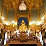 Golden sculpture of the Buddha Ankhiros — Stock Photo #5621492