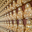Row of Many small Buddha statue — Stock Photo