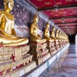 Royalty-Free Stock Photo: Row of Golden Buddha images