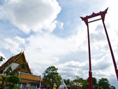 Giant Swing in front of wat sutat Bangkok, Thailand — Stock Photo